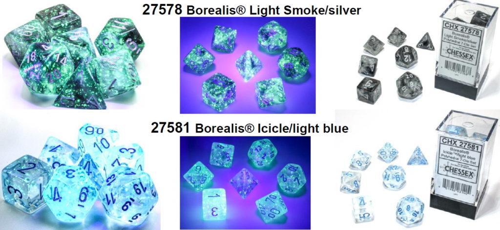 Chessex Borealis Light Smoke and Icicle