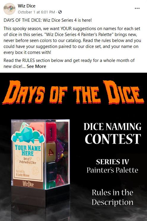 Wiz Dice Naming Contest