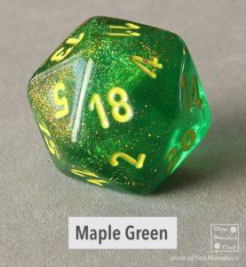 Chessex Borealis Maple Green d20