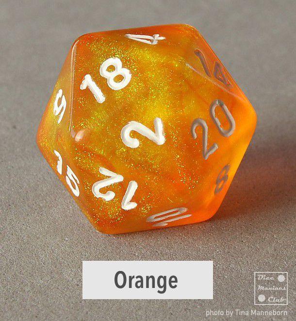 Chessex Borealis Orange d20