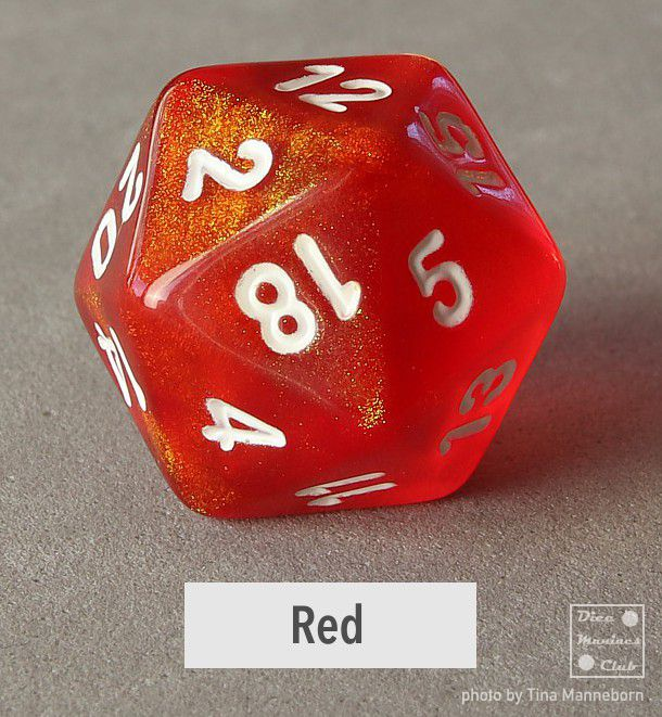 Chessex Borealis Red d20