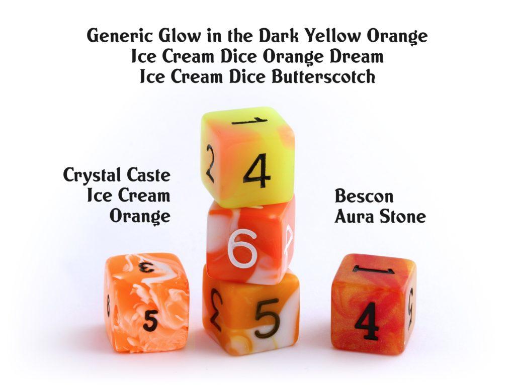 Swirly Orange Dice by other brands